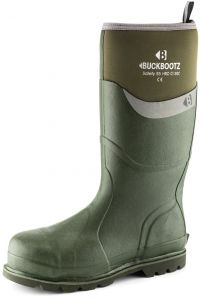 Buckbootz Green Safety Wellington Size 9
