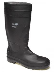 Steel Toe Black Safety Wellingtons