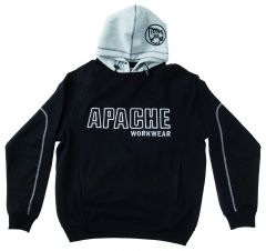 Apache Hooded Sweatshirt - Black / Grey