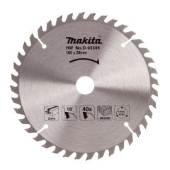 Makita TCT Circular Saw Blade 165x20mm 40 Tooth