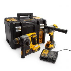 DeWalt DCK229P2T Heavy Duty Brushless 18v SDS/Combi Twin Pack 2x5ah