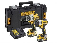 Dewalt DCK276P2 18v Heavy Duty Brushless Twin Pack 2 x 5ah Batteries