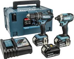 Makita DLX2131JX1 18v Twin Pack, 3 x 3ah Batteries