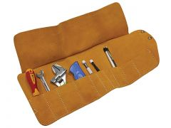 Faithfull 10 Pocket Leather Tool Roll