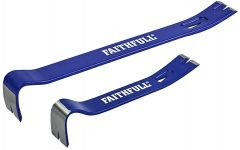 Faithfull FAIUBARS Utility Bars Twin Pack 175mm (7in) & 375mm (15in)