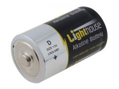 Lighthouse Alkaline Batteries D LR20 14800mAh Pack of 2