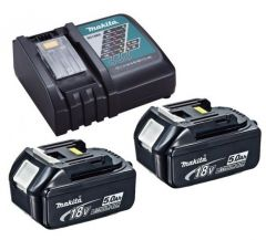 Makita 2x3ah Batteries & Charger Add-on