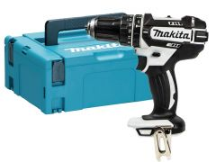Makita DHP482 Combi Drill in White with Makpac Case & Inlay