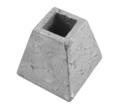 16mm Square Reciever Socket Galvanised
