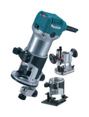 "Makita 1/4"" Router/Trimmer set with 3 bases"