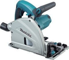 Makita Plunge Saw with 2x1.4m Rails, Connector, Clamps & Bag