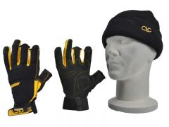 CLC Pro Carpenter Fingerless Gloves inc. Beanie XMS19GLFRAME